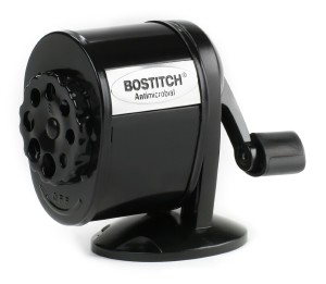 Stanley Bostitch All Metal Antimicrobial 8-hole Manual Pencil Sharpener with Dual Cutters